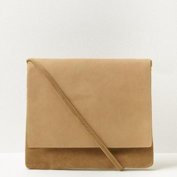 Missguided - Camel Mixed Fabric Cross Body Bag
