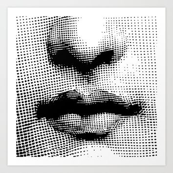 Lina Cavalieri Nose & Mouth Art Print by Leartset