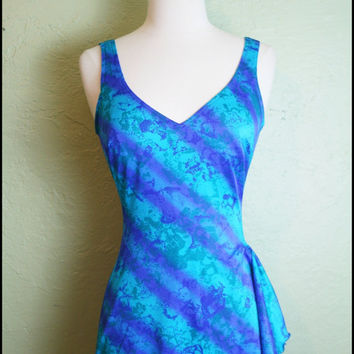 Vintage '70s Under The Sea One Piece// Blue by StoriesForBoys