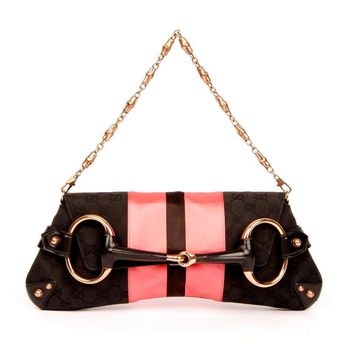 Gucci Horsebit Clutch 4166  (Authentic Pre-owned)