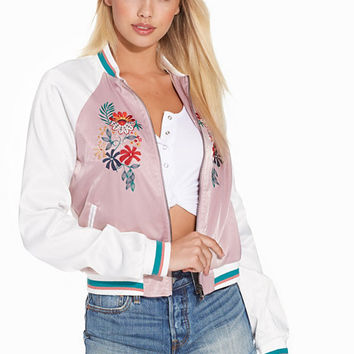 Embroidered Bomber Jacket, Glamorous