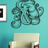 Octopus Version 4 Decal Sticker Wall Vinyl Art Animal Ocean