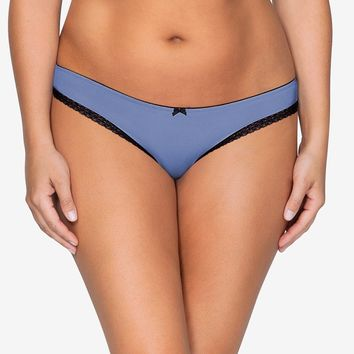 Parfait Panty Thong in Silver Blue