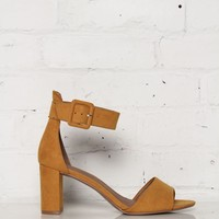 Chinese Laundry Rumor Ankle Strap Suede Heel - Yellow