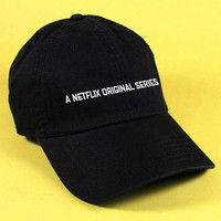 new A NETFLIX ORIGINAL SERIES Baseball Hat Dad Hat White Pink Black Embroidered Unisex Adjustable Strap Back Baseball Cap dad cap