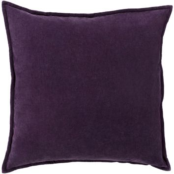 Simone Velvet Toss Pillow DARK PURPLE