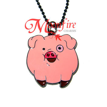 GRAVITY FALLS Waddles Pink Character Pendant Necklace