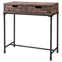 Threshold™ Mixed Material 2 Drawer Console Table - Patchwork