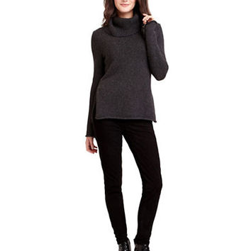 Sam Edelman Zip Sleeve Cowlneck Sweater