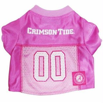 DCCKOP9 Alabama Crimson Tide Pink Dog Jersey