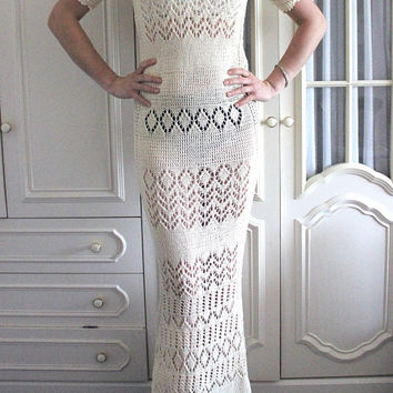 Ivory - cream long wedding dress (Custom made)
