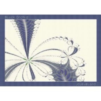 Black Orchid, Abstract, Fractal Art, Fractal, Counted Cross Stitch Pattern, Xstitch - X-Stitch-Patterns Counted Cross Stitch