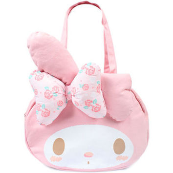My melody die cut canvas tote bag ☆ Sanrio fashion bag & bag accessory series ★ black cat DM service impossibility