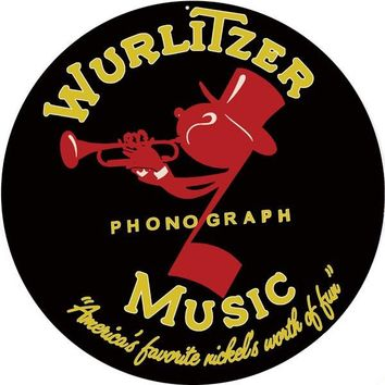 Wurlitzer Music Phonograph Nostalgic Reproduction Sign 14″ Round