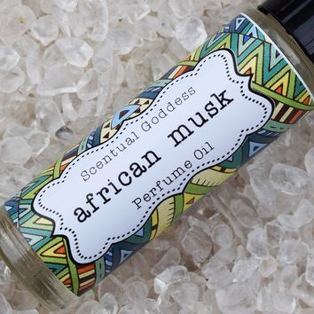 AFRICAN MUSK Perfume Oil - Handmade Roll On Rose Musk Scented Perfume