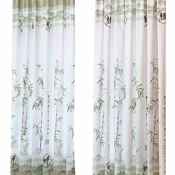 Bamboo curtain cloth for living Room Window screening Curtains tulle Room Divider curtain yarn curtains for bedroom 1 X 2m