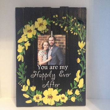 Personalized wedding gift pallet sign engagement gift anniversary gift bridal shower gift wedding decor unique wedding gifts laurel wreath