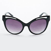 Cut-Out Cat Eye Sunglasses in Black - Urban Outfitters