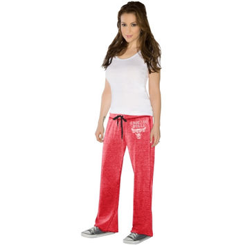 Touch by Alyssa Milano Chicago Bulls Ladies Star Player Burnout Pants - Red