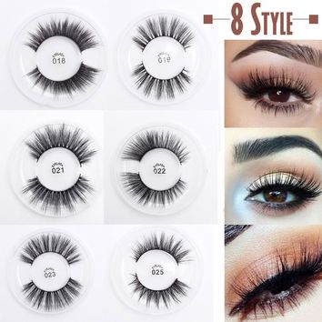 1 Pair 3D Handmade False Eyelashes Multi-layer Cross Natural Long Thick Fake Eye Lashes Sexy Stage Beauty Makeup Extension Tools