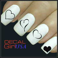 Nail Art Decals 32 Heart Nail Decals
