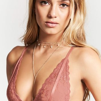 Sheer Lace Caged Bralette