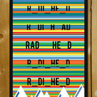 Radiohead Rainbows Kid A Glass Framed Poster