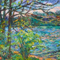 Riverview Spring Greeting Card