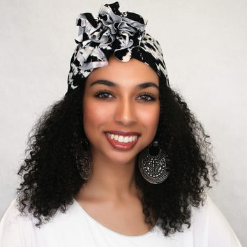 Inkspot Flower Turban