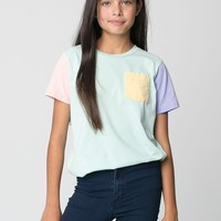 rsa2206 - Youth Fine Jersey Pocket Short Sleeve T-Shirt