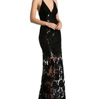Dress the PopulationSequin Lace Gown