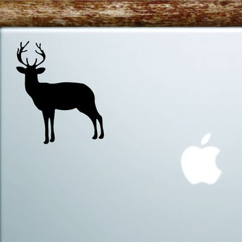 Deer Silhouette Laptop Apple Macbook Car Quote Wall Decal Sticker Art Vinyl Inspirational Motivational Animal Mountains Hunt Hunter