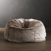 Grand Luxe Faux Fur Bean Bag Chair - Lynx