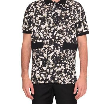 Givenchy Cotton polo shirt with all-over floral print