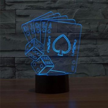 3D Card Multi-color Changing Lamp