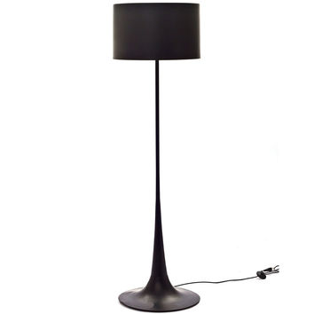 Silk Floor Lamp Black
