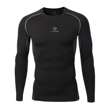 Quick Drying Sport Men Fitness Compression Shirt Gym Bodybuilding Long Sleeve Running T-shirt Cross Training Functional Fitness Tops Shirts