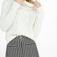 Geo Print High Waisted A-line Mini Skirt from EXPRESS