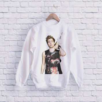 Luke Hemmings 5 Second Of Summer UNISEX SWEATSHIRT heppy fit & sizing