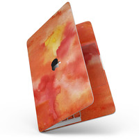 """Red 53 Absorbed Watercolor Texture - 13"""" MacBook Pro without Touch Bar Skin Kit"""
