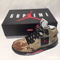 ONETOW VAWA Mens Air Jordan 5 Retro High Supreme X  Camo 824371-201 Basketball Sand