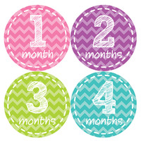 Baby Girl Monthly Baby Stickers Style #250