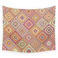 Society6 Granny's Millefiori Quilt-Spring Colors Wall Tapestry