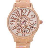 Betsey Johnson Watch, Women's Rose Gold Tone Stainless Steel Bracelet 38mm BJ00040-14 - Betsey Johnson - Jewelry & Watches - Macy's