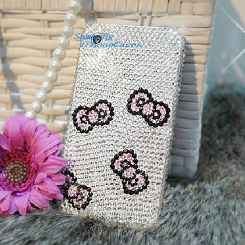 HTC one X Bling Cases iphone4 cute bows iPhone5 case sliver crystal iPhone 5 cover iPhone5 case ipod 5 case bling galaxy s4 case ipod 4 case