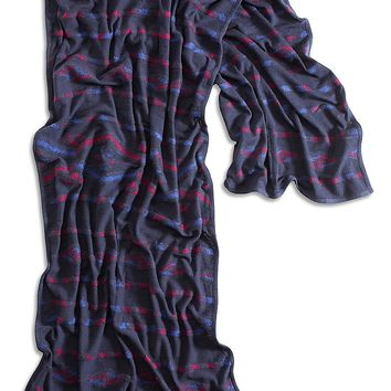 Lucky Brand Textured Geo Scarf Womens - Blue Multi (One Size)