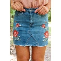 Alexa Denim Skirt | Light Denim