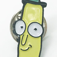Mr. Poopybutthole Ceramic Enamel Lapel Pin Brass Dickbutt