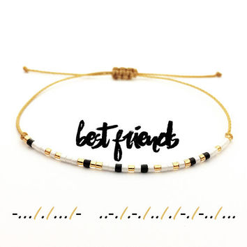 Best Friends Morse Code Friendship Bracelet - Best Friend Gift - BFF Gifts - Best Friend Bracelet - Best Friends Forever