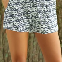 Tribal Times Shorts-Navy